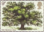 British Trees (1st Issue) - The Oak 9p Stamp (1973) Oak Tree