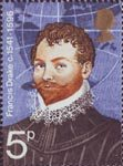 British Explorers 5p Stamp (1973) Sir Francis Drake