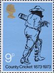 County Cricket 1873-1973 3p Stamp (1973) County Cricket 1873-1973
