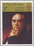 British Painters 5p Stamp (1973) 'Self-portrait' (Sir Henry Raeburn)