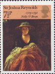 British Painters 7.5p Stamp (1973) 'Nelly O'Brien' (Sir Joshua Reynolds)
