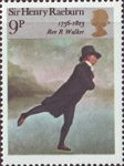 British Painters 9p Stamp (1973) 'Rev R.Walker (The Skater)' (Sir Henry Raeburn)