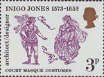 Inigo Jones - 400th Anniversary 3p Stamp (1973) Court Masque Costumes