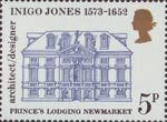 Inigo Jones - 400th Anniversary 5p Stamp (1973) Prince's Lodging, Newmarket