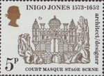 Inigo Jones - 400th Anniversary 5p Stamp (1973) Court Masque Stage Scene