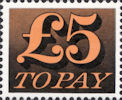 Decimal To Pay £5 Stamp (1973) Orange Yellow