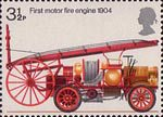 Fire Service 3.5p Stamp (1974) First Motor Fire-engine, 1904