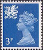 Regional Decimal Definitive - Wales 3p Stamp (1974) Blue
