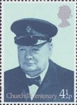 Birth Centenary of Sir Winston Churchill 4.5p Stamp (1974) Churchill in Royal Yacht Squadron Uniform