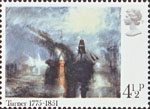 Birth Bicentenary of J.M.W. Turner (painter) 4.5p Stamp (1975) 'Peace - Burial at Sea'