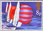 Sailing 8p Stamp (1975) Racing Keel Boats
