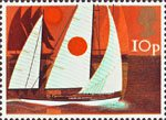 Sailing 10p Stamp (1975) Cruising Yachts