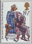 Jane Austen 8.5p Stamp (1975) Emma and Mr Woodhouse (Emma)
