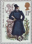 Jane Austen 11p Stamp (1975) Mr Darcy (Pride and Prejudice)