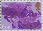 Christmas 6.5p Stamp (1975) Angels with Harp and Lute