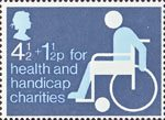Charity Stamp 4.5p Stamp (1975) Invalid in Wheelchair