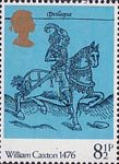 William Caxton 8.5p Stamp (1976) The Canterbury Tales