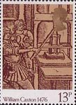 William Caxton 13p Stamp (1976) Early Printing Press