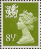 Regional Definitive - Wales 8.5p Stamp (1976) Yellow-Green