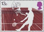 Racket Sports 13p Stamp (1977) Badminton