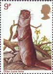 British Wildlife 9p Stamp (1977) Otter