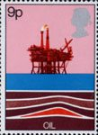Energy Resources 9p Stamp (1978) Oil - North Sea Production Platform
