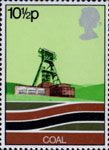 Energy Resources 10.5p Stamp (1978) Coal - Modern Pithead