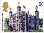British Architecture (Historic Buildings) 9p Stamp (1978) Tower of London