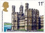 British Architecture (Historic Buildings) 11p Stamp (1978) Caernarvon Castle