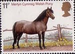 Horses 11p Stamp (1978) Welsh Pony