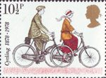 Cycling 10.5p Stamp (1978) 1920 Touring Bicycles