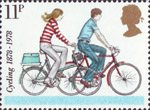 Cycling 11p Stamp (1978) Modern Small-wheel Bicycles