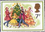 Christmas 7p Stamp (1978) Singing Carols round the Christmas Tree