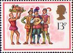 Christmas 13p Stamp (1978) 'The Boar's Head Carol'
