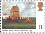 Horseracing 11p Stamp (1979) 'The First Spring Meeting, Newmarket, 1793' (J.N. Sartorius)