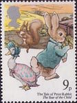 The Year of the Child 9p Stamp (1979) The Tale of Peter Rabbit (Beatrix Potter)