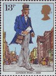 Death Centenary of Sir Rowland Hill (postal reformer) 13p Stamp (1979) London Post, c 1839