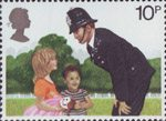 Police 10p Stamp (1979) Policeman on the Beat