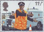 Police 11.5p Stamp (1979) Policeman directing Traffic