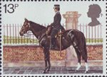 Police 13p Stamp (1979) Mounted Policewoman