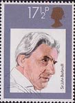 British Conductors 17.5p Stamp (1980) Sir John Barbirolli