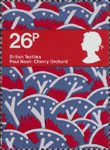 British Textiles 26p Stamp (1982) 'Cherry Orchard' (Paul Nash)