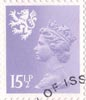 Regional Definitive - Scotland 15.5p Stamp (1982) Pale Violet
