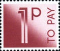 To Pay Labels 1p Stamp (1982) To Pay 1p