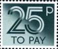 To Pay Labels 25p Stamp (1982) To Pay 25p
