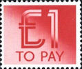 To Pay Labels £1.00 Stamp (1982) To Pay £1.00