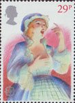 British Theatre 29p Stamp (1982) Opera Singer