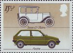 British Motor Industry 15.5p Stamp (1982) Austin 'Seven' and 'Metro'