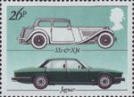 British Motor Industry 26p Stamp (1982) Jaguar 'SS1' and 'XJ6'