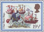 Christmas 1982 19.5p Stamp (1982) 'I Saw Three Ships'